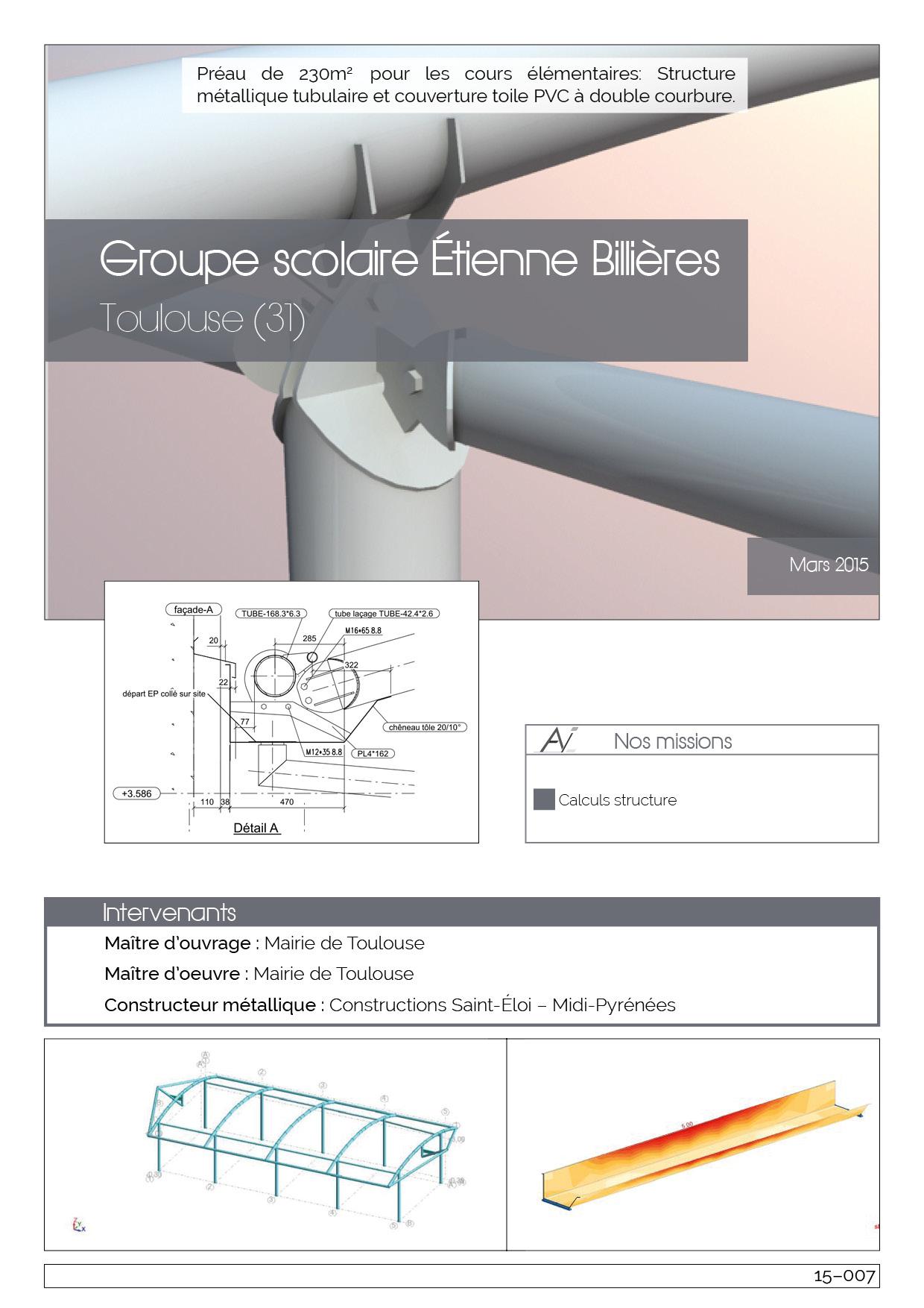 15-007 Groupe scolaire Etienne Billières