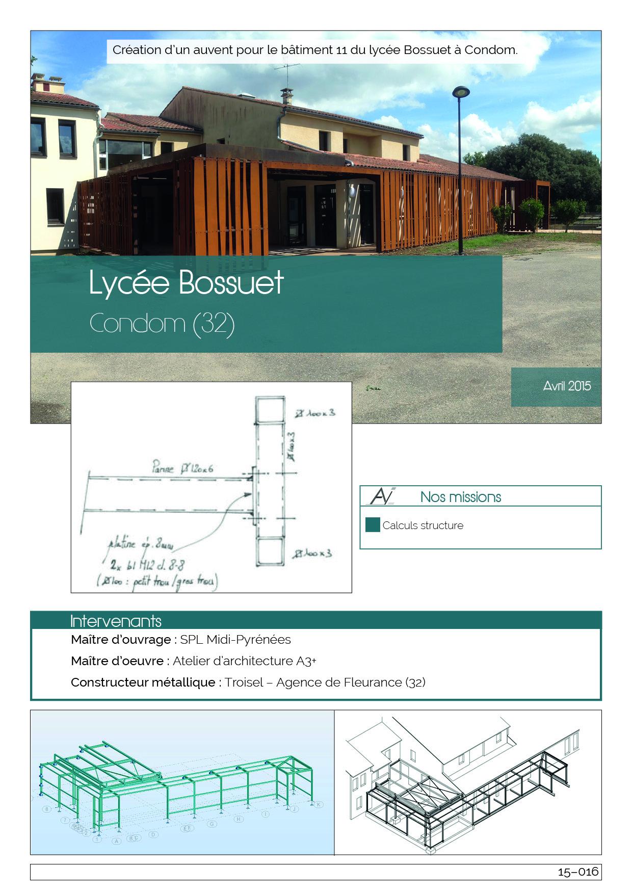 15-016 Lycée Bossuet