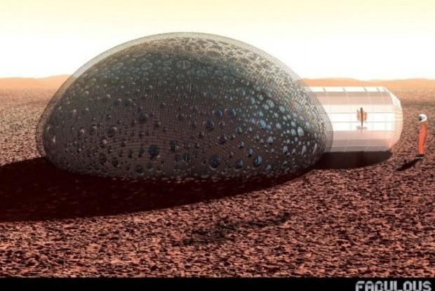 image habitat sur Mars SFERO impression 3D fil d'info