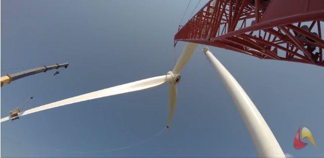 Janvier 2016 - Time Laps de la construction d'une éolienne